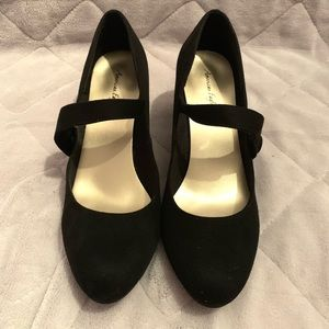 Black 60's style shoes